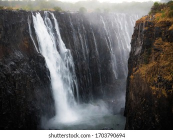 Victoria Falls during the dry season