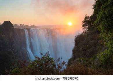 Victoria Falls in the morning light, Zimbabwe, Africa