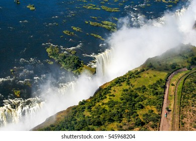 Victoria Falls, or Mosi-oa-Tunya is a waterfall in southern Africa on the Zambezi River at the border of Zambia and Zimbabwe.