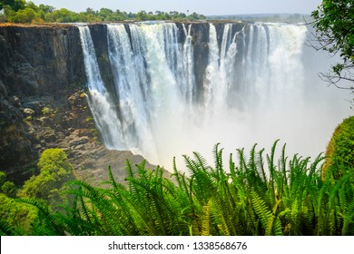 Victoria Falls on Zambezi river - Livingstone-Zambia (Mosi-oa-Tu