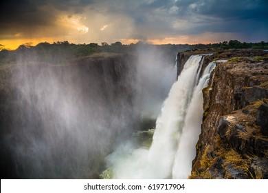 Victoria Falls on Zambezi river - Livingstone-Zambia