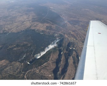 Victoria Falls seen from the plane