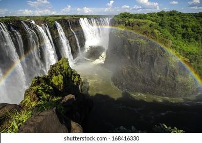 The Victoria Falls in Zimbabwe.