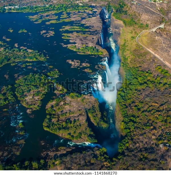 Victoria Falls Zimbabwe Africa Stock Photo Edit Now 1141868270