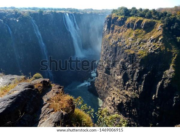 Victoria Falls Zimbabwe Zambia Africa Stock Photo Edit Now