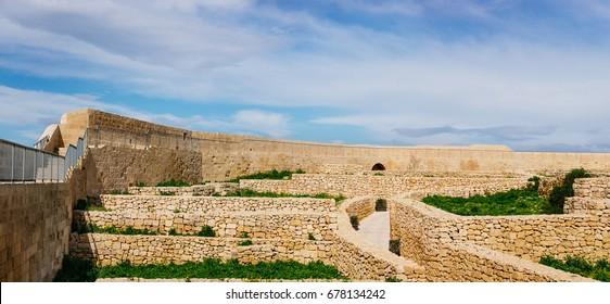 Victoria, Gozo. Ancient ruins inside the Citadel