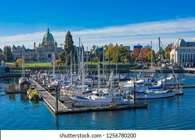 Victoria Harbor with the British Columbia Parliament Building in the background Victoria British Columbia Canada