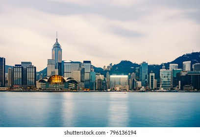 Victoria harbor in the morning : Hong Kong