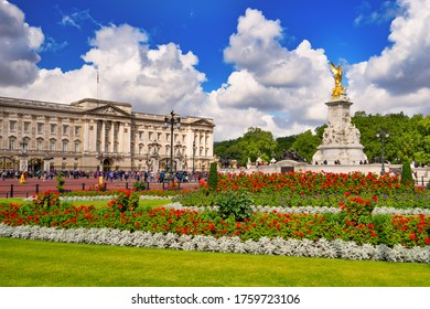 The Victoria Memorial and Buckingham Palace in London, United Kingdom