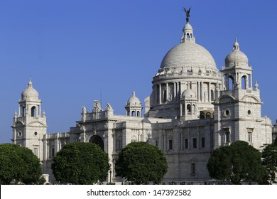 Victoria Memorial, one of the famous Historical Monument of Indian Architecture. It was built between 1906 and 1921 to commemorate Queen Victoria's 25 years reign in India, Kolkata.