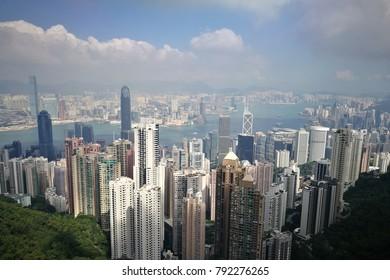 Victoria peack Hong Kong skyline