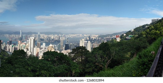 Victoria Peak is a hill on the western half of Hong Kong Island. It is also known as Mount Austin, and locally as The Peak. With an elevation of 552 m, it is the highest hill on Hong Kong island.