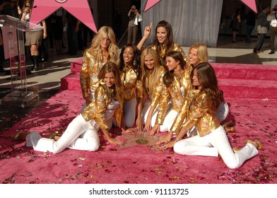 Victoria Secret Angels at a ceremony honoring the Victorias Secret Angels with the Hollywood Award of Excllence. Hollywood Boulevard, Hollywood, CA. 11-13-07