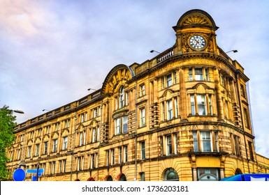 Victoria station, a historic building in Manchester, North West England