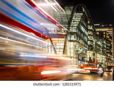 Victoria station in the night, London