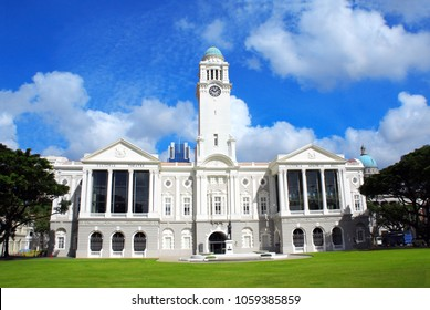 Victoria Theatre and Concert Hall, Central Area, Singapore city, Singapore. Summer day
