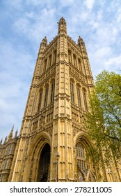 Victoria Tower of the Palace of Westminster - London