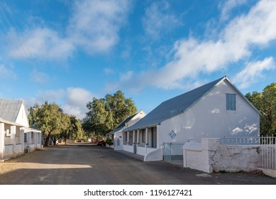VICTORIA WEST, SOUTH AFRICA, AUGUST 7, 2018: A street scene, with historic buildings, in Victoria West in the Northern Cape Province