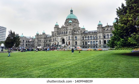 Victoria,British Columbia,Canada - May 3, 2019 - This is the Parliamont Building home of the Legislation Assembly of British Columbia. It was open in 1897.