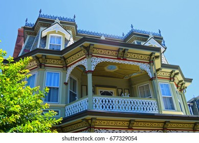Victorian architecture detail in Cape May 2
