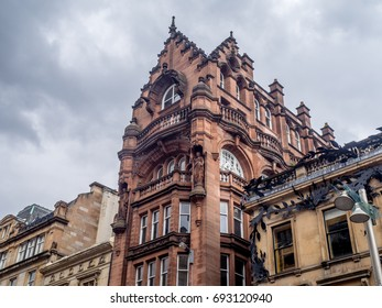 Victorian architecture in the heart of Glasgow, Scotland.