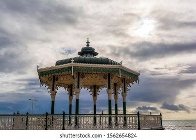 The Victorian bandstand near the beach in Brighton, UK.
