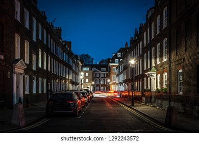 Victorian buildings in westminster streets, London