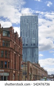 Victorian Classical Buildings on Deansgate, Manchester, UK