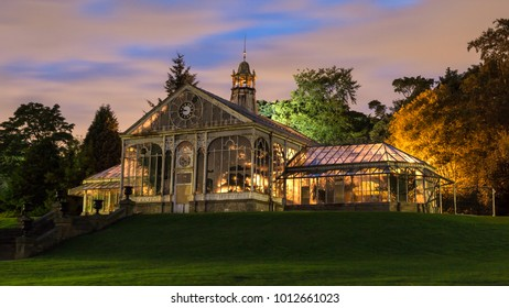 Victorian Conservatory at Corporation Park, Blackburn, Lancashire, UK