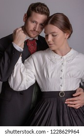 Victorian couple in love