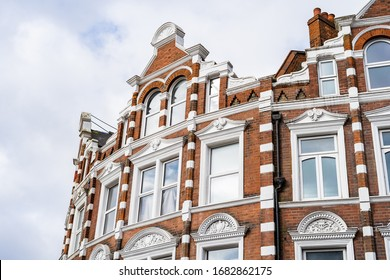 Victorian and Edwardian mansion block architecture in North London, England
