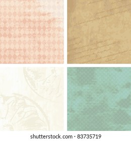 Victorian grunge backgrounds (jpg); vector version also available
