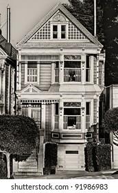 Victorian home on Steiner Street in San Francisco.