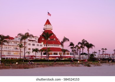 """Victorian Hotel del Coronado where """"Some like it hot"""" with Marilyn Monroe was filmed 18/01/2017 - San Diego, California, United States"""