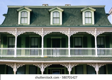 Victorian house with balcony, in Cape May, New Jersey.