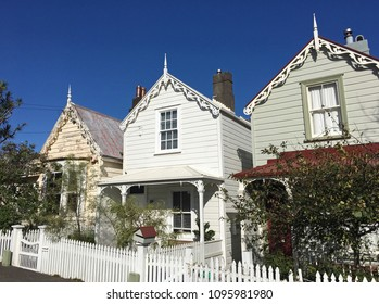Victorian houses in Auckland, New Zealand.