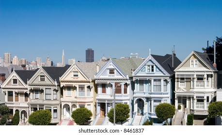 Victorian houses on Alamo Square in San Francisco