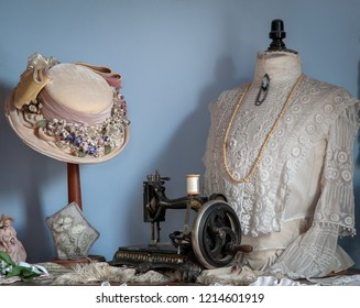 Victorian Millinery Display