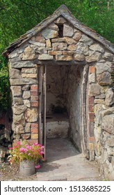 Victorian outside toilet, also known as an outhouse.