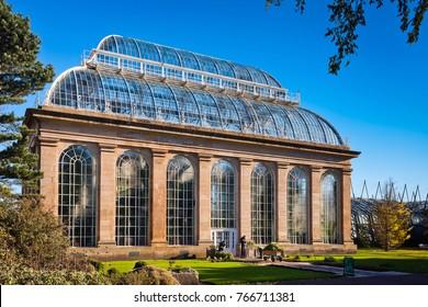 The Victorian Palm House, Royal Botanic Gardens, Edinburgh, Scotland - November 2010