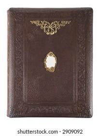 Victorian photo album with brass decoration