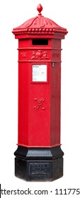 Victorian Postbox isolated on White with clipping path