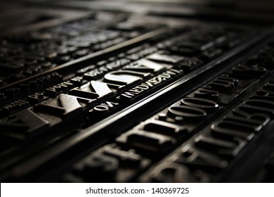 Victorian printing Press Letters