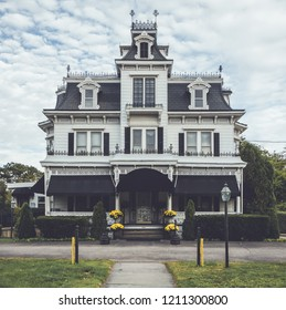 Victorian style funeral home is meticulously maintained and ornate with unique crow's nest in Port Jervis, NY