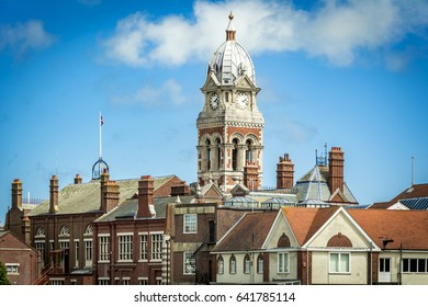 Victorian town hall building at Eastbourne in Sussex