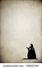 victorian woman silhouette