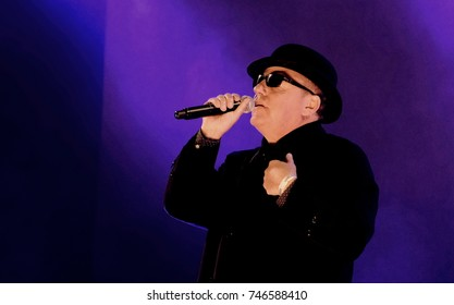 Victorious Festival - 25th August, 2017: Graham McPherson aka Suggs performing with British ska band Madness  at Victorious Festival, , Southsea, Portsmouth Hampshire, 25 August 2017, UK