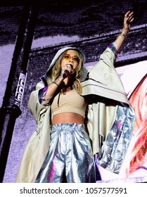 Victorious Festival - 26th August, 2017: British singer Rita Ora performing at Victorious Festival, Southsea, Portsmouth Hampshire, 26 August 2017