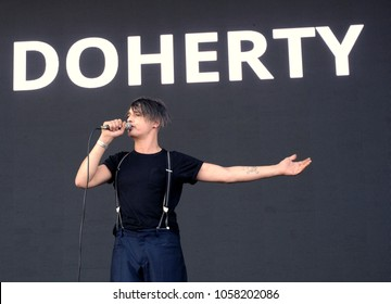 Victorious Festival - 27th August, 2017: Pete Doherty former lead singer with British band Babyshambles performing at Victorious Festival, Southsea, Portsmouth Hampshire, 27 August 2017