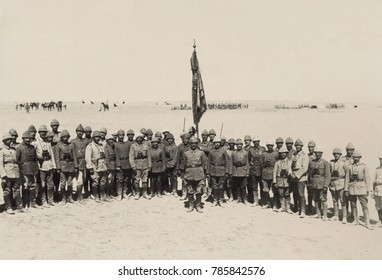 Victorious Ottoman officers of the First Battle of Gaza, March 1917. They repulsed the British Egyptian Expeditionary Force on March 26